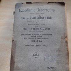 Libros antiguos: EXPEDIENTE GUBERNATIVO. EXMO. JOSE CANALEJAS. AÑO 1911.. Lote 244809435