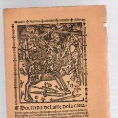 Livros antigos: DOCTRINA DEL ARTE DE LA CAVALLERIA. JUAN QUIJADA DE REAYO, C. 1875. FACSIMIL. Lote 248726375