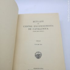 Libri antichi: BUTLLETÍ CENTRE EXCURSIONISTA CATALUNYA ANY 1931. Lote 251517965