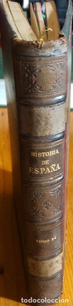 HISTORIA DE ESPAÑA- MODESTO LAFUENTE- ISABEL II- AMADEO- PRIM- GUERRAS CARLISTAS- 1890 (Libros antiguos (hasta 1936), raros y curiosos - Historia Moderna)