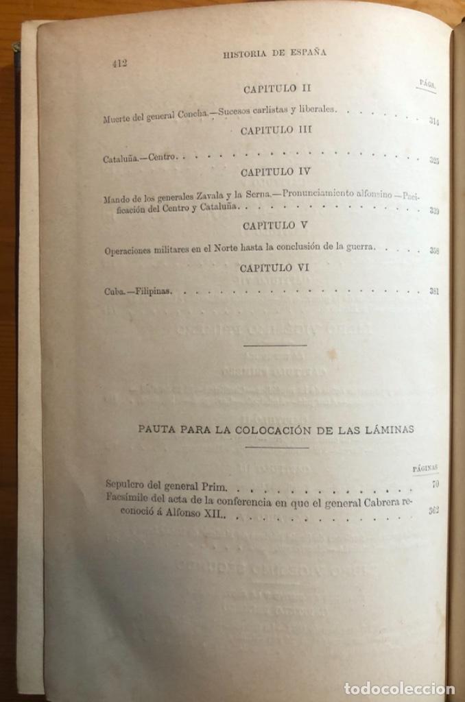 Libros antiguos: HISTORIA DE ESPAÑA- MODESTO LAFUENTE- ISABEL II- AMADEO- PRIM- GUERRAS CARLISTAS- 1890 - Foto 7 - 253263785