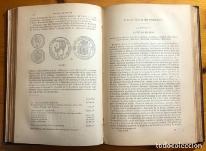Libros antiguos: HISTORIA DE ESPAÑA- MODESTO LAFUENTE- ISABEL II- AMADEO- PRIM- GUERRAS CARLISTAS- 1890 - Foto 8 - 253263785