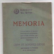 Libri antichi: MEMORIA SOCIEDAD EL SITIO. LISTA DE SEÑORES SOCIOS. BILBAO, 31 DICIEMBRE 1933. Lote 254727540