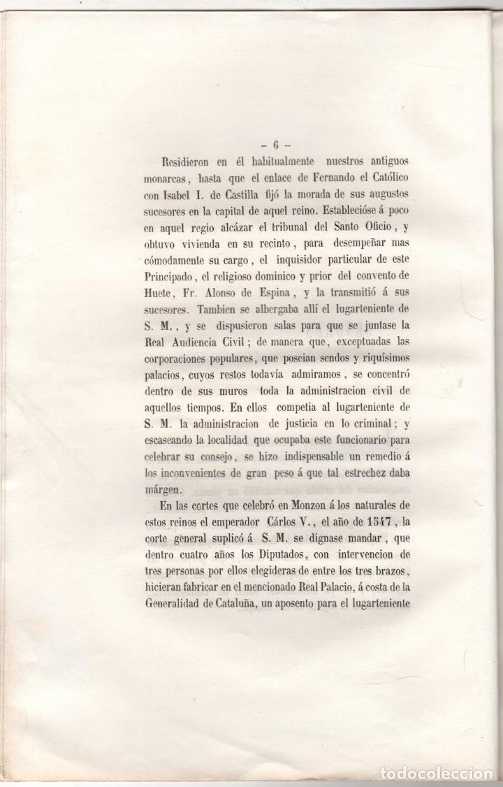 Libros antiguos: MEMORIA EN LA SOLEMNE APERTURA ARCHIVO GENERAL DE LA CORONA DE ARAGON. MANUEL BOFARULL. 1853 - Foto 2 - 259237790