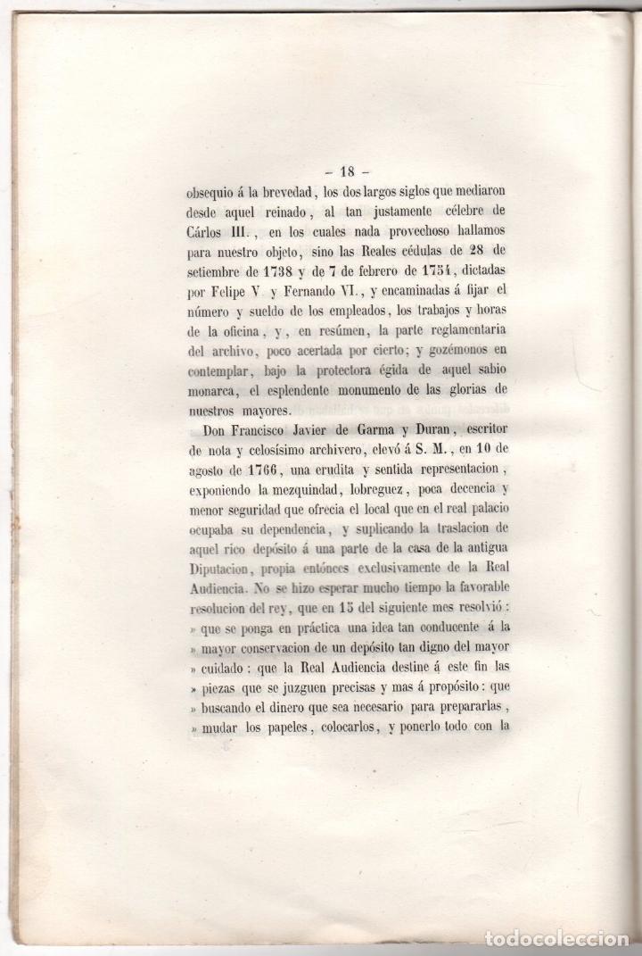 Libros antiguos: MEMORIA EN LA SOLEMNE APERTURA ARCHIVO GENERAL DE LA CORONA DE ARAGON. MANUEL BOFARULL. 1853 - Foto 3 - 259237790