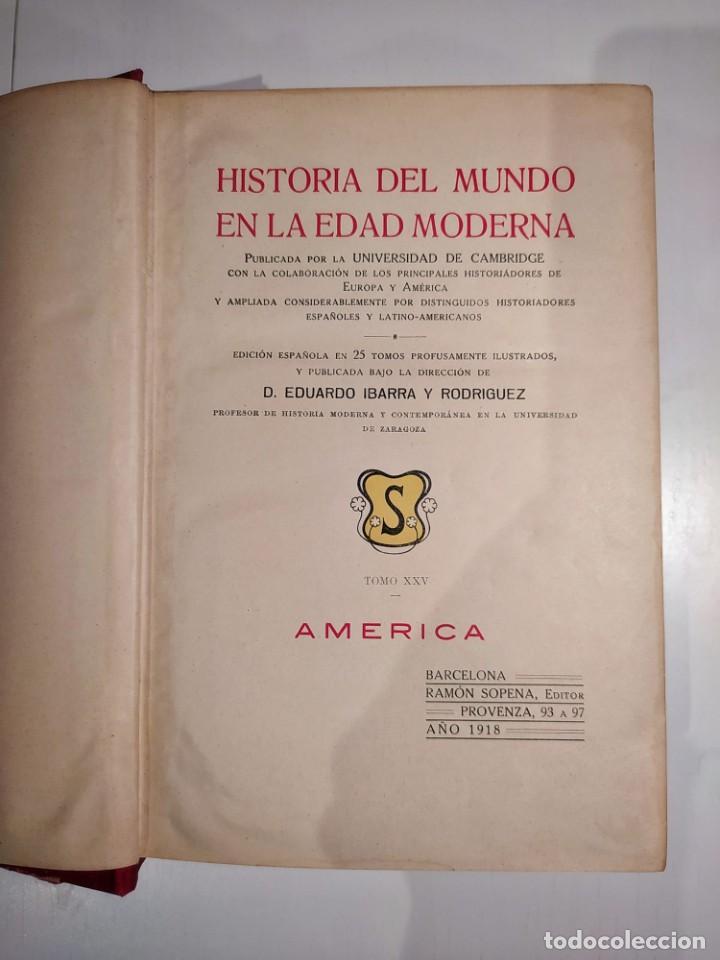Libros antiguos: Historia del Mundo en la Edad Moderna - Foto 2 - 260090785