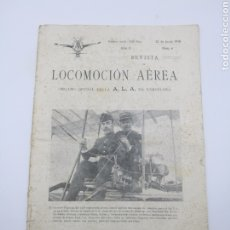 Libros antiguos: REVISTA LOCOMOCIÓN AÉREA N 6 JUNIO DE 1910 BARCELONA. Lote 260090860