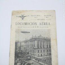 Libros antiguos: REVISTA LOCOMOCIÓN AÉREA N 5 MAYO DE 1910 BARCELONA. Lote 260092215