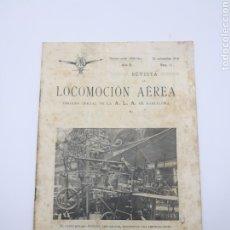 Libros antiguos: LOCOMOCIÓN AÉREA N 11 NOVIEMBRE DE 1910 BARCELONA. Lote 260092870
