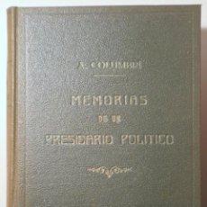 Libros antiguos: COLUMBRÍ, ALBERTO - UNA VÍCTIMA. MEMORIAS DE UN PRESIDARIO POLÍTICO (1857) - BARCELONA 1864 - ILUSTR. Lote 261563700