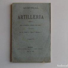 Libros antiguos: LIBRERIA GHOTICA. MEMORIAL DE ARTILLERIA. 1882. DESPLEGABLE CON GRABADOS. MILITARIA.. Lote 262221915
