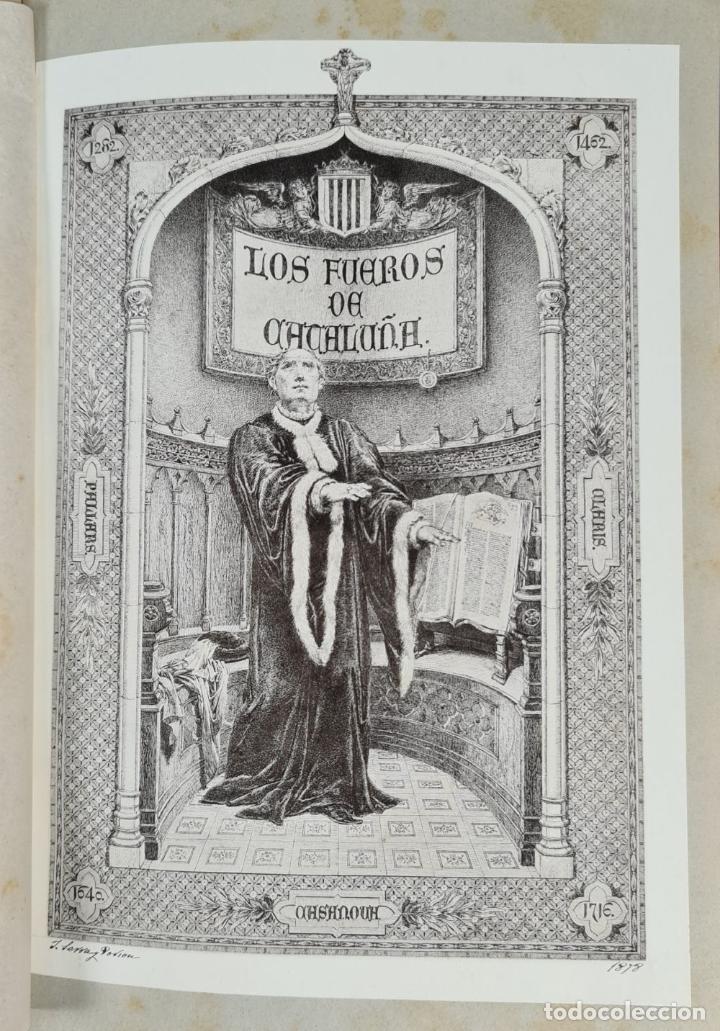 Libros antiguos: LOS FUEROS DE CATALUÑA. JOSE COROLEU Y JOSE PELLA. IMP. LUIS TASSO. 1878. - Foto 6 - 263237325