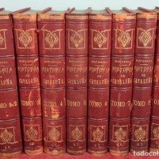 Libros antiguos: HISTORIA DE CATALUÑA. ANTONIO DE BOFARULL. EDIT. JUAN ALEU. 9 VOL. 8 T. 1876.. Lote 263242185
