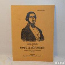 Livres anciens: HISTORIA BIOGRAFICA DEL CONDE DE MONTEMOLIN, APELLIDADO CARLOS VI POR SUS PARTIDARIOS - FACSIMIL. Lote 263613420
