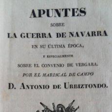 Livros antigos: GUERRA CARLISTA CARLISTAS CARLISMO URBIZTONDO CONVENIO VERGARA NAVARRA. Lote 263773255