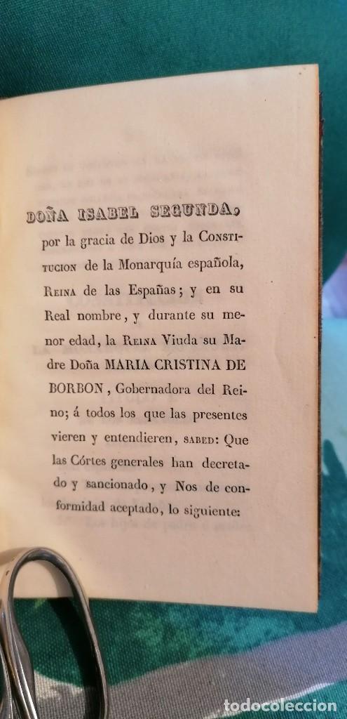 Libros antiguos: LIBRO CONSTITUCIÓN DE LA MONARQUÍA ESPAÑOLA, PROMULGADA EN MADRID...1837 - Foto 3 - 265488544