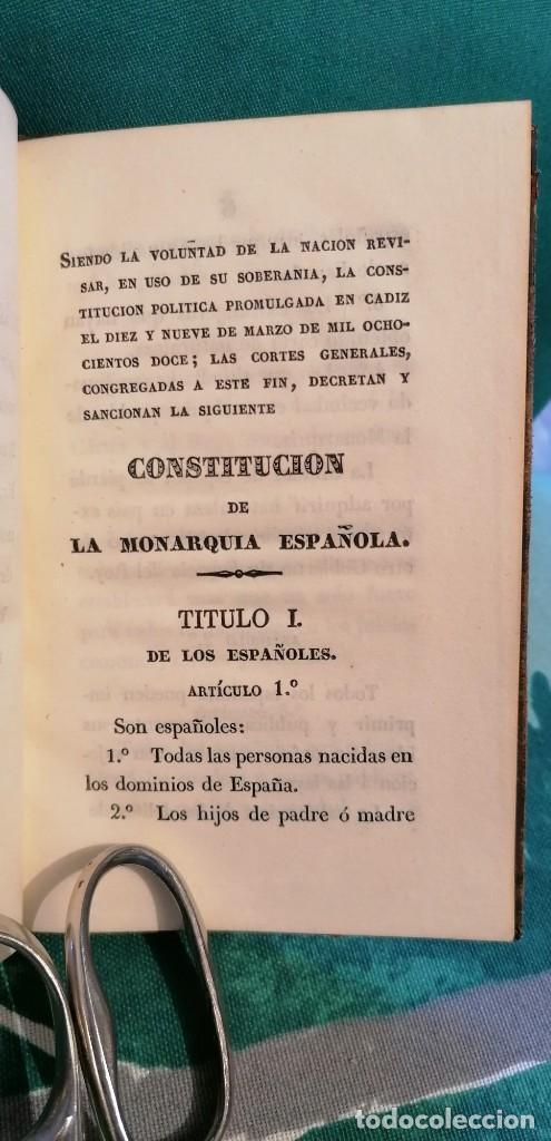 Libros antiguos: LIBRO CONSTITUCIÓN DE LA MONARQUÍA ESPAÑOLA, PROMULGADA EN MADRID...1837 - Foto 4 - 265488544