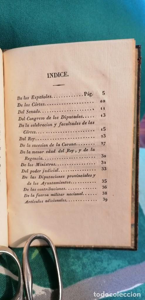 Libros antiguos: LIBRO CONSTITUCIÓN DE LA MONARQUÍA ESPAÑOLA, PROMULGADA EN MADRID...1837 - Foto 5 - 265488544