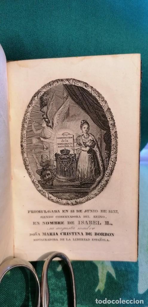 LIBRO CONSTITUCIÓN DE LA MONARQUÍA ESPAÑOLA, PROMULGADA EN MADRID...1837 (Libros antiguos (hasta 1936), raros y curiosos - Historia Moderna)