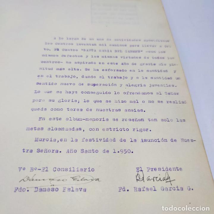 Libros antiguos: Álbum bibliográfico, documentas y fotográfico del centro general Santa María del Carmen de Murcia. - Foto 4 - 266305048