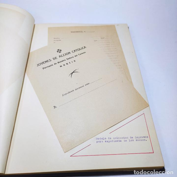 Libros antiguos: Álbum bibliográfico, documentas y fotográfico del centro general Santa María del Carmen de Murcia. - Foto 9 - 266305048