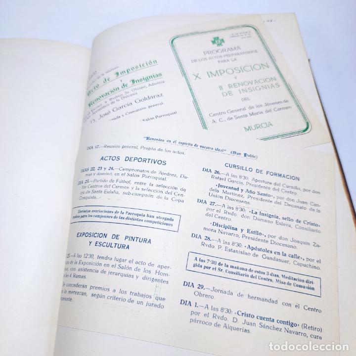 Libros antiguos: Álbum bibliográfico, documentas y fotográfico del centro general Santa María del Carmen de Murcia. - Foto 15 - 266305048
