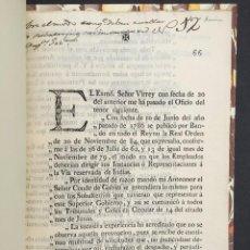 Libros antiguos: AÑO 1788 - MEXICO - INDIAS - OFICIO SOBRE LAS INSTANCIAS DE LA VIA RESERVADA DE INDIAS - CÉDULA. Lote 267025664