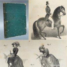 Libros antiguos: 1855 - NUEVO MÉTODO PARA EMBOCAR BIEN TODOS LOS CABALLOS Y TRATADO SUCINTO DE EQUITACIÓN. Lote 267066389