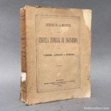 Libros antiguos: 1875 - CATALOGO DE LA BIBLIOTECA DE LA ESCUELA ESPECIAL DE INGENIEROS DE CAMINOS, CANALES Y PUERTOS. Lote 267079649