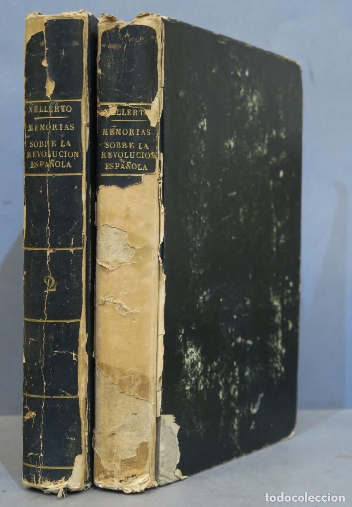 1814.- MEMORIAS PARA LA HISTORIA DE LA REVOLUCION ESPAÑOLA. LLORENTE. NELLERTO. PARIS. 2 TOMOS (Libros antiguos (hasta 1936), raros y curiosos - Historia Moderna)