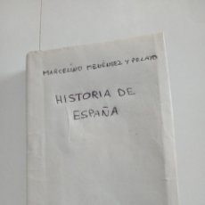 Libros antiguos: HISTORIA DE ESPAÑA . MARCELINO .M.Y PELAYO. Lote 269583328