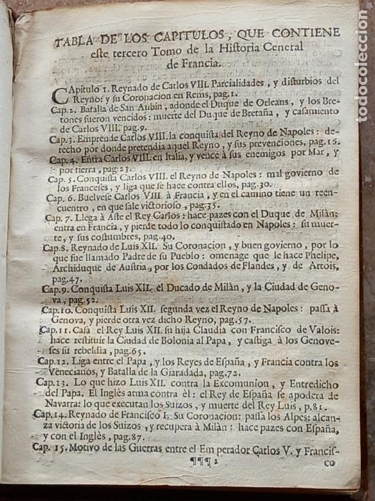 Libros antiguos: HISTORIA GENERAL DE FRANCIA - TOMO III : SUCCESSION DE SUS MONARCAS - MADRID - MDCCLX. - Foto 6 - 269831233