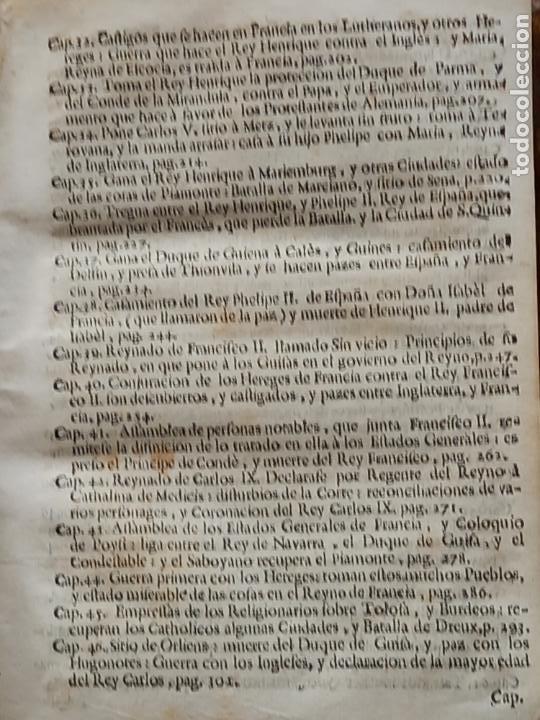 Libros antiguos: HISTORIA GENERAL DE FRANCIA - TOMO III : SUCCESSION DE SUS MONARCAS - MADRID - MDCCLX. - Foto 8 - 269831233