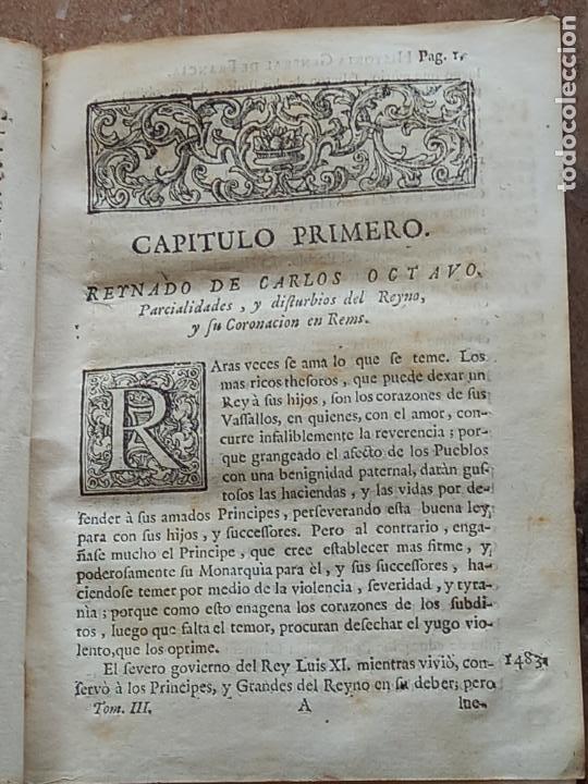 Libros antiguos: HISTORIA GENERAL DE FRANCIA - TOMO III : SUCCESSION DE SUS MONARCAS - MADRID - MDCCLX. - Foto 11 - 269831233