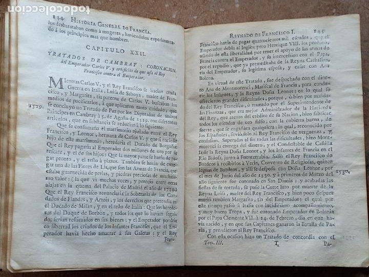Libros antiguos: HISTORIA GENERAL DE FRANCIA - TOMO III : SUCCESSION DE SUS MONARCAS - MADRID - MDCCLX. - Foto 13 - 269831233