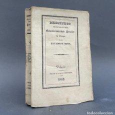 Libros antiguos: 1832 - DESCRIPCION DE LOS ESTABLECIMIENTOS PENALES DE EUROPA Y ESTADOS UNIDOS - CARCELES. Lote 270088093
