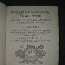 Libros antiguos: 1774 ESPAÑA SAGRADA: ESTADO DE LA IGLESIA AUSONENSE, HOY VIQUE. TOMO XXVIII.. Lote 271149273