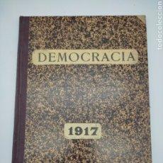 Libros antiguos: PERIÓDICO POLÍTICO DEMOCRÀCIA VILANOVA I LA GELTRÚ AÑO COMPLETO 1917. Lote 275094413
