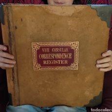 Libros antiguos: 5 LIBROS MANUSCRITOS POR VICECÓNSUL BRITÁNICO CON ANOTACIONES DEL PUERTO Y CIUDAD TARRAGONA. Lote 275132508