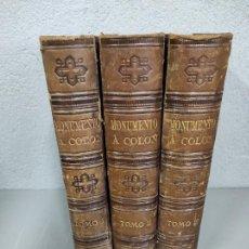 Libros antiguos: MONUMENTO Á COLÓN - HISTORIA DE LA VIDA Y VIAJES DE CRISTÓBAL COLÓN -CONDE ROSSELLY DE LORGUES 1878. Lote 276436858