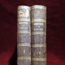Libros antiguos: 1882. MEMORIAS DE CANLER, ANTIGUO JEFE DEL SERVICIO DE SEGURIDAD.. Lote 276644373