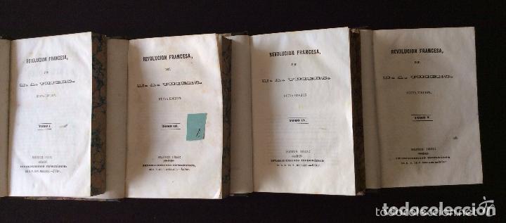 REVOLUCION FRANCESA P. MELLADO. MADRID, 1845 -. ,INCOMPLETA 4 TOMOS REVOLUCION FRANCESA P. MELLADO. (Libros antiguos (hasta 1936), raros y curiosos - Historia Moderna)