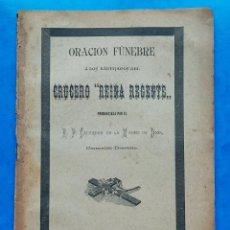 """Libros antiguos: ORACION FUNEBRE A LOS NAUFRAGOS DEL CRUCERO """"REINA REGENTE"""" LERIDA LLEIDA 1895 16 P. Lote 277108848"""
