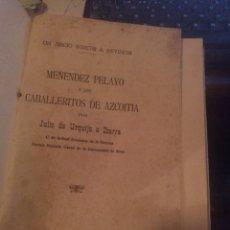 Libros antiguos: JULIO URQUIJO E IBARRA. LOS CABALLERITOS DE AZCOITIA 1925, RETAPADO. Lote 277845723