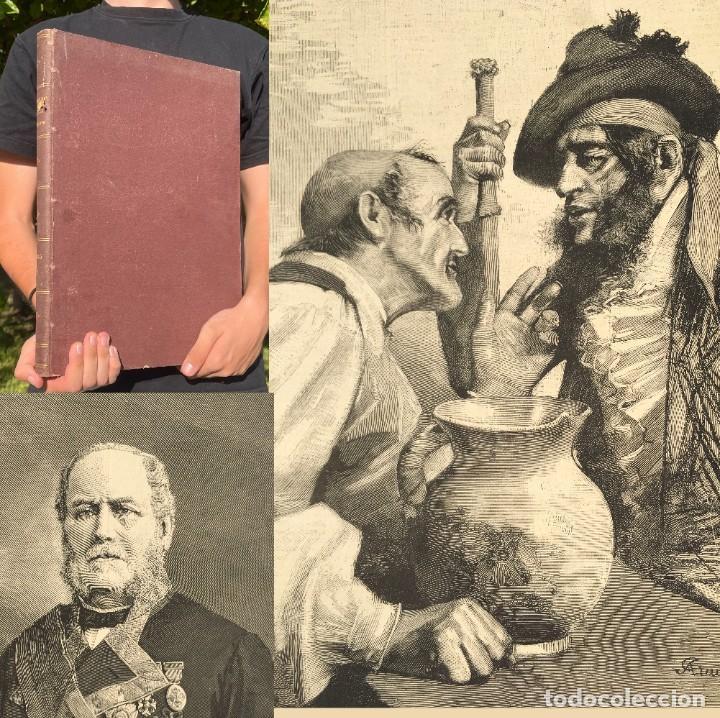 AÑO 1885 - OBRA MAGNA - LA ILUSTRACION ESPAÑOLA Y AMERICANA - CRISIS DE LAS CAROLINAS - MARINA (Libros antiguos (hasta 1936), raros y curiosos - Historia Moderna)