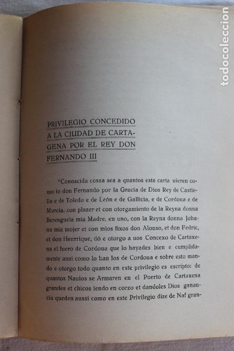 Libros antiguos: CATALOGO DE LOS BIENES DE PROPIOS DEL AYUNTAMIENTO CARTAGENA 1924 - Foto 10 - 278184033