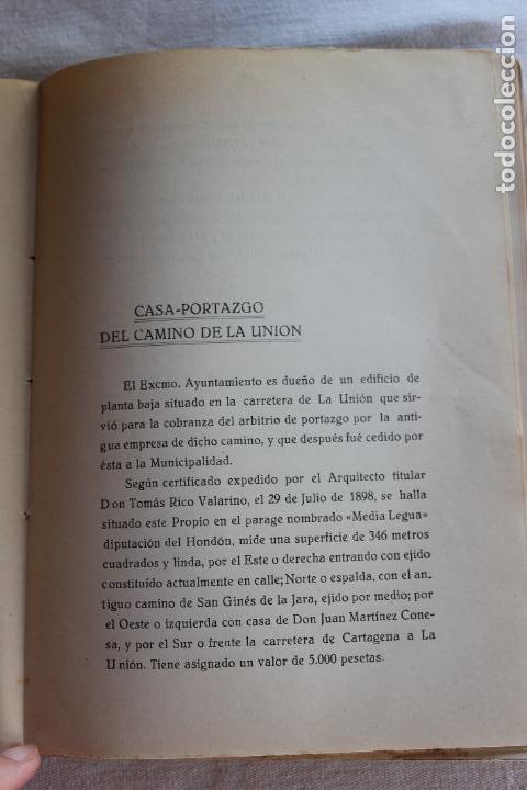 Libros antiguos: CATALOGO DE LOS BIENES DE PROPIOS DEL AYUNTAMIENTO CARTAGENA 1924 - Foto 16 - 278184033
