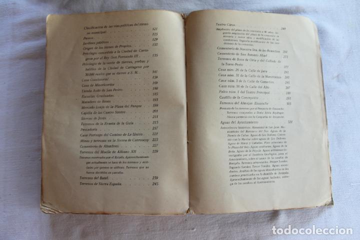 Libros antiguos: CATALOGO DE LOS BIENES DE PROPIOS DEL AYUNTAMIENTO CARTAGENA 1924 - Foto 18 - 278184033