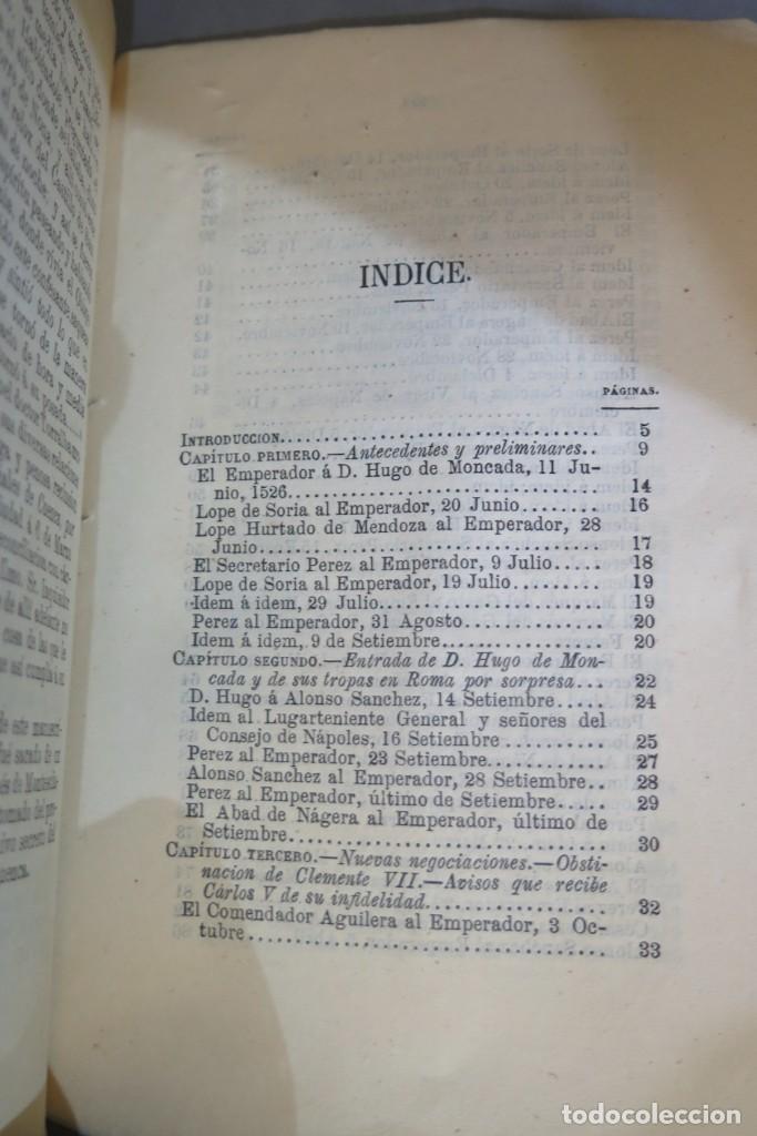 Libros antiguos: 1875.- MEMORIAS PARA LA HISTORIA DEL ASALTO Y SAQUEO DE ROMA EN 1527 POR EL EJERCITO IMPERIAL - Foto 3 - 278508513