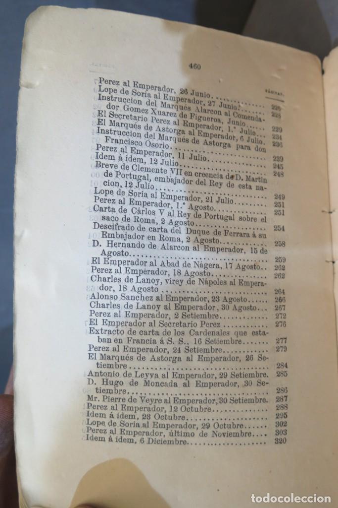 Libros antiguos: 1875.- MEMORIAS PARA LA HISTORIA DEL ASALTO Y SAQUEO DE ROMA EN 1527 POR EL EJERCITO IMPERIAL - Foto 6 - 278508513